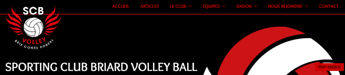Lancement du Site Internet : www.scb-volleyball.fr